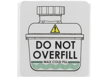 Label, Expansion Tank Caution