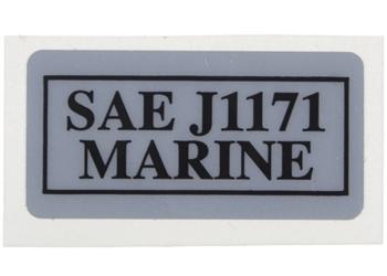 Label, SAE J1171 Compliance