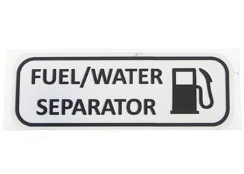 Label, Fuel Water Separator