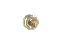 "Plug, 3/8"" Internal Hex, Brass"