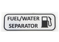 Label, Fuel Water Separator