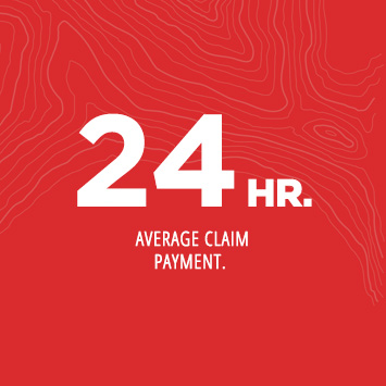48 HR. average claim payment.