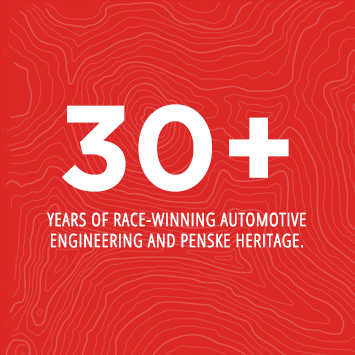 30+ years of race-winning automotive engineering excellence and Penske heritage